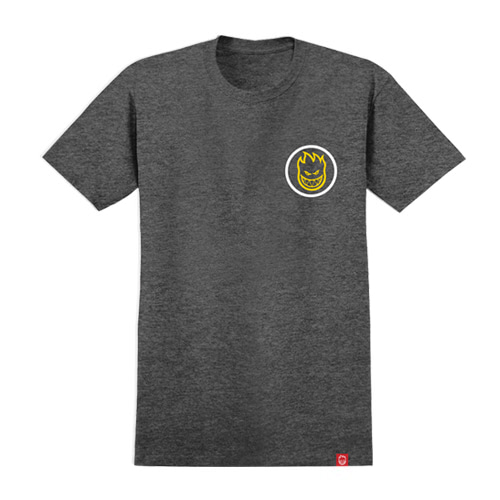[spitfire] CLASSIC SWIRL FADE S/S T-Shirt CHARCOAL HEATHER w/ WHITE to YELLOW FADE 51010534H