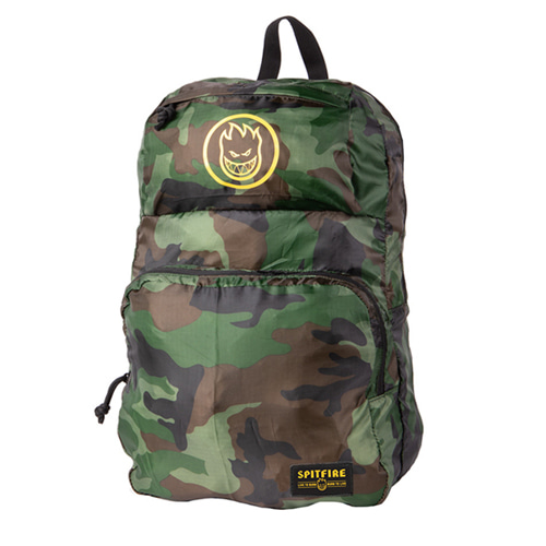 [spitfire] BIGHEAD HOMBRE Packable Backpack CAMO/YELLOW 6001004400