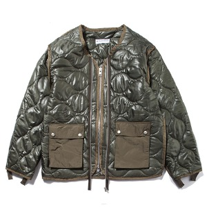 [KING]Quilted Jacket -Khaki