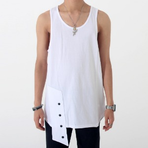 [안단테에디션] Layered Snap Sleeveless