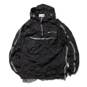 [KING] Crinkled Anorak Jacket-Black