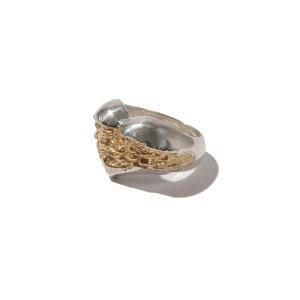 [KRUCHI] heart ring (silver,14k gold plated)