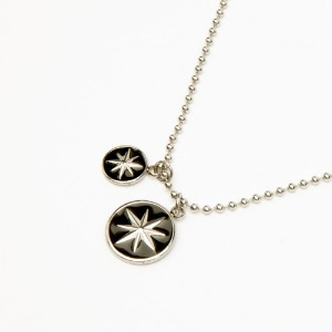 [ONEHUNNNIT] 19FW COMPASS CIRCLE NECKLACE