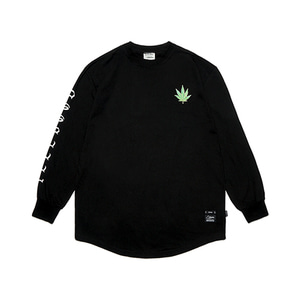 [STIGMA]LEAF LAYERED LONG SLEEVES T-SHIRTS - BLACK