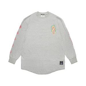 [STIGMA]CLASSIC LAYERED LONG SLEEVES T-SHIRTS - GREY