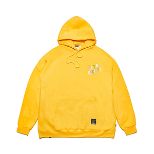 [STIGMA]WAVE OVERSIZED HEAVY SWEAT HOODIE - YELLOW