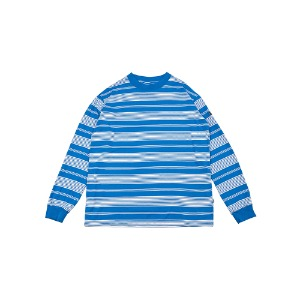 [YESEYESEE] Y.E.S Stripe Long Sleeve Blue