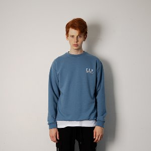 [YESEASY]  CCY SWEATSHIRT - Indigo Blue