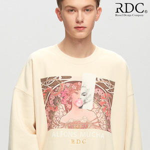 [RDC] ALFONS MUCHA ATTRACTION CREAM SWEAT SHIRTS