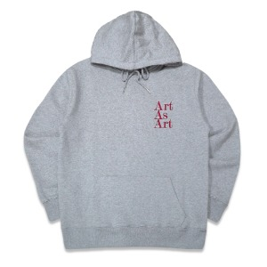 ART AS ART HOODY - GREY