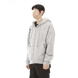 [RENDEZVOUZ] PSYCHE AURORA HOODIE ZIP UP GREY