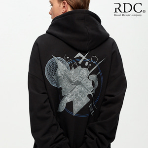 [RDC] KANDINSKY CIRCLE SHAPES BLACK HOODIE