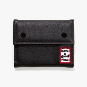 [have a good time] Frame Faux Leather Wallet - Black