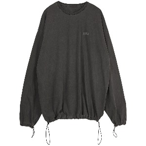 [FLAREUP] pigment string long sleeve (FU-143_Dark Grey)