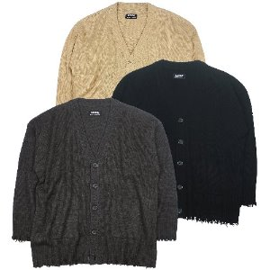 [RUNDS] oversize damage cardigan (3color)