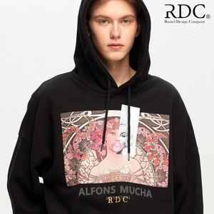 [RDC] ALFONS MUCHA ATTRACTION BLACK HOODIE