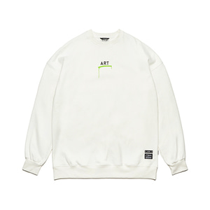 [STIGMA]ART OVERSIZED HEAVY SWEAT CREWNECK - WHITE