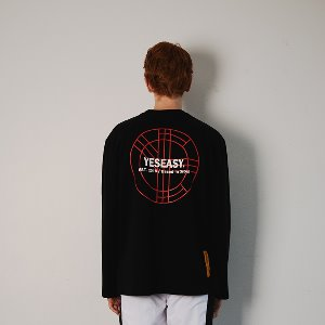 [YESEASY]  CIRCLE LOGO LONGSLEEVE - BLACK