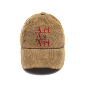 ART AS ART CORDUROY CAP - BROWN