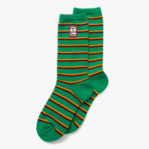 [have a good time] FRAME STRIPE SOCKS - GREEN