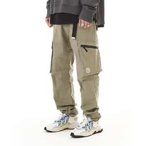 [RENDEZVOUZ] MULTI POCKET CARGO PANTS LIGHTKHAKI