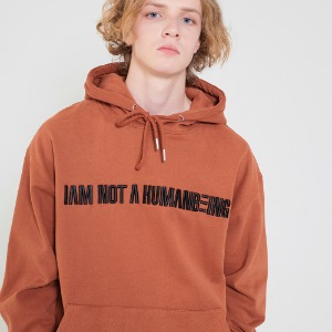 I am Not A humanbeing Hoody - Brown