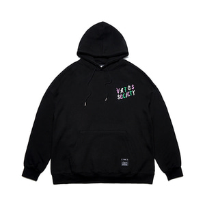 [STIGMA]WAVE OVERSIZED HEAVY SWEAT HOODIE - BLACK