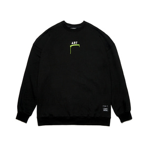 [STIGMA]ART OVERSIZED HEAVY SWEAT CREWNECK - BLACK