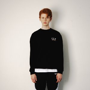 [예스이지]  CCY SWEATSHIRT - BLACK