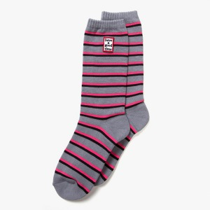 [해브어굿타임] FRAME STRIPE SOCKS - HEATHER GRAY