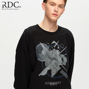 [RDC] KANDINSKY CIRCLE SHAPES BLACK SWEAT SHIRTS