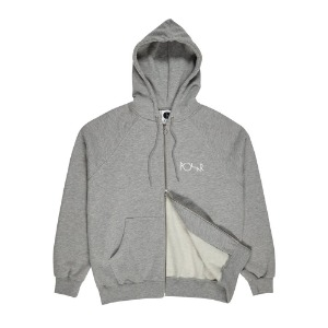 [폴라스케이트] Stroke Logo Zip Hoodie - Heather Grey