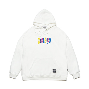 [STIGMA]MULTIPLE COLOR OVERSIZED HEAVY SWEAT HOODIE - WHITE