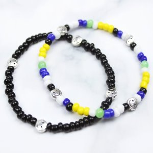[RUNDS] SET-smile beads bracelet