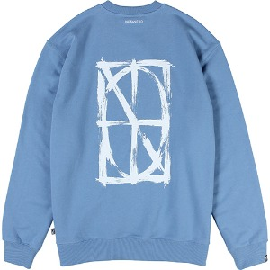 [낫포너드] Brush Symbol Logo Crewneck - Sky Blue