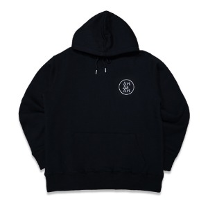 PATCH LOGO HOODY - BLACK