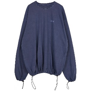 [FLAREUP] pigment string long sleeve (FU-143_Navy Blue)
