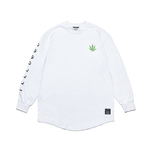 [STIGMA]LEAF LAYERED LONG SLEEVES T-SHIRTS - WHITE