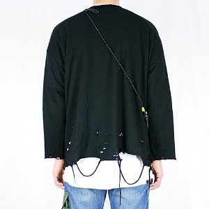 [RUNDS] oversize grunge long sleeve (black)