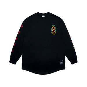 [STIGMA]CLASSIC LAYERED LONG SLEEVES T-SHIRTS - BLACK