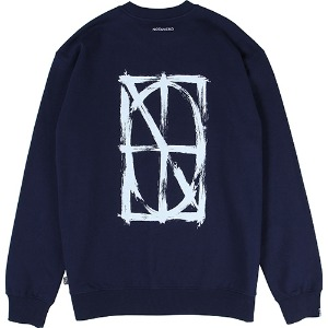 [낫포너드] Brush Symbol Logo Crewneck - Navy