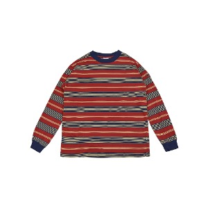 [YESEYESEE] Y.E.S Stripe Long Sleeve Red