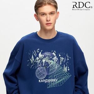 [RDC] KANDINSKY GRID SHAPES MIDNIGHT-NAVY SWEAT SHIRTS
