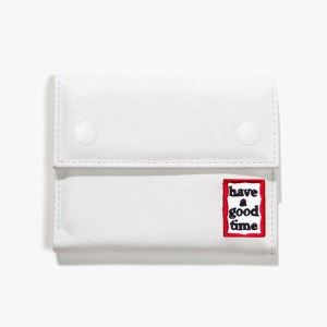 [have a good time] Frame Faux Leather Wallet - White