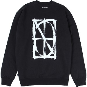[낫포너드] Brush Symbol Logo Crewneck - Black