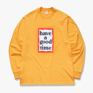 [have a good time] FRAME L/S TEE - Cheddar Cheese