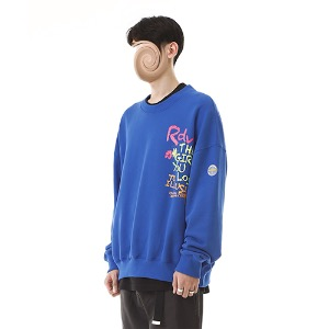 [RENDEZVOUZ] CRAYON SWEAT TOP BLUE