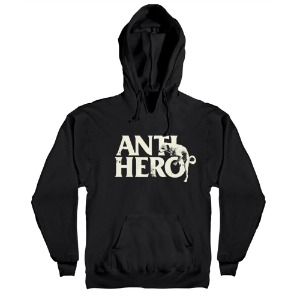 [Anti Hero] DOG HUMP Pullover Hood - BLACK / DISCHARGE Print 53120024B