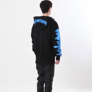 [Double adrenaline syndrome]signature bloody hoodie(blue)