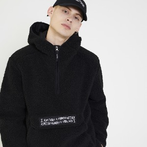 Fleece pullover Anorak Hoodie-Jacket - Black [10/25 예약배송]